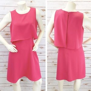 Calvin Klein Flounce Pink Dress Sz 12 ::Y15